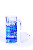 Carafe and glass Royalty Free Stock Images