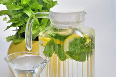 Carafe with lemonade Royalty Free Stock Image