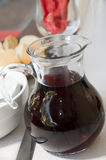 Carafe red wine ajaccio corsica Royalty Free Stock Photos