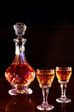 Carafe and shoots of alcohol Royalty Free Stock Images