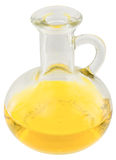 Carafe with yellow oil Stock Photography