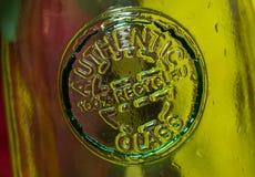 Caraffa di vetro riciclata 100% Immagini Stock