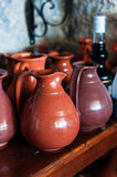 Caraffe del vino Fotografia Stock