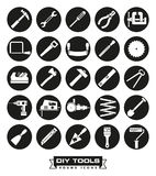 Carafting tools Round Icon Set vector illustration