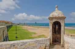 Caragena city walls royalty free stock photography