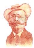caragiale ιονικό σκίτσο του Λ0ύκα Στοκ Εικόνα