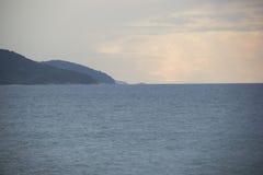 Caraguatatuba海滩,状态的北海岸美丽的景色  库存照片
