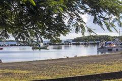 Caraibes et île tropicale atlantique de mer, de la Guadeloupe et de Martinique image libre de droits