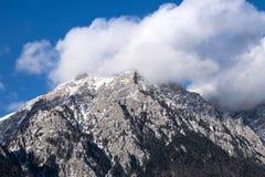 Caraiman berg, Bucegi, Rumänien Arkivbild