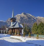 Caraiman church in Romania, Bucegi. Mountains stock image