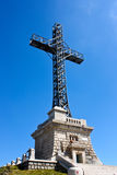 Caraiman Cross Monument. The monument dedicated to the heroes that fought during World War 1 is located on top of the Caraiman Mountain,Romania Royalty Free Stock Images