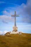 Caraiman cross, Romania, Bucegi mountains Royalty Free Stock Image