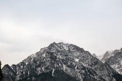 Caraiman kors, Bucegi, Rumänien Arkivfoto