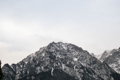Caraiman krzyż, Bucegi, Rumunia Zdjęcie Stock