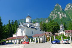 Caraiman Monastery. In Busteni, Romania stock photography