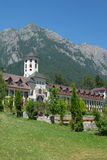 Caraiman Monastery. In Busteni, Romania stock images