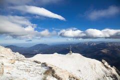 Caraiman Mountain Cross royalty free stock photos