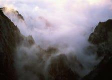 Caraiman valley. On Bucegi - Romania stock images