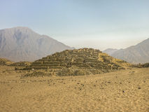 Caral City Ancient Civilization Supe Ruins Royalty Free Stock Photo