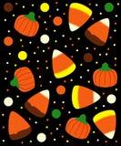 Caramal Apfel, Kürbisgelee, Süßigkeitmais, Erdnussbuttercup, cinammon, Karamell, Plätzchen, Schokoriegel, Lutscher Lizenzfreies Stockfoto