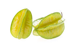 Carambola, φρούτα αστεριών που απομονώνονται Στοκ Εικόνες