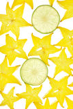 Carambola background Royalty Free Stock Photo