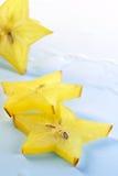 Carambola de las abstracción-rebanadas de la fruta Imagen de archivo
