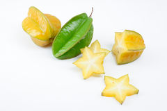 Carambola fruit with slices Stock Photography