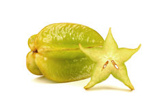 Carambola. Fruit on white background Stock Image