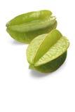 Carambola fruit on white background Royalty Free Stock Photos