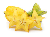 Carambola Fruit With Slices Isolated On White Royalty Free Stock Images