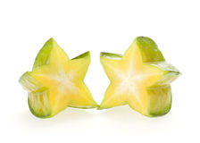 Carambola, fruto de estrela Fotografia de Stock Royalty Free