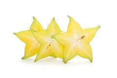 Carambola, gwiazdowa owoc Obrazy Royalty Free