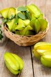 Carambola (het Fruit van de Ster) Royalty-vrije Stock Afbeeldingen