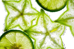Carambola and lime Stock Image