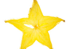 Carambola macro Royalty Free Stock Photos