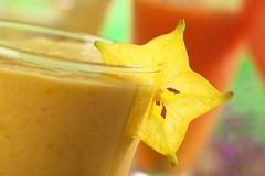 Carambola Slice Garnishing Mango Juice Stock Photos