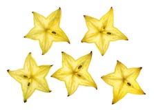 Carambola slices Stock Image