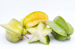carambola or star apple on white background Royalty Free Stock Images
