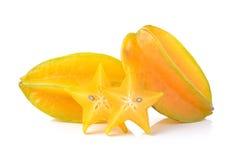 Carambola star fruit  on white background Royalty Free Stock Photography