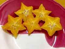 Carambola or starfruit Stock Image