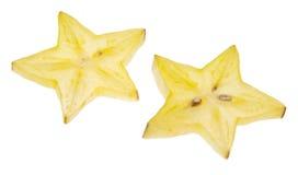Carambola Starfruit Isolated on White Stock Photos