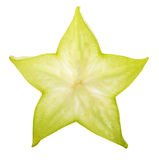 Carambola starfruit isolated on white background Stock Photos