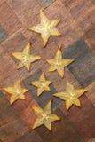 Carambola stars Royalty Free Stock Images