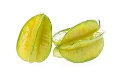 Carambola, Sternfrucht lokalisiert Stockbilder
