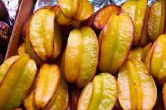Carambola Tajlandzka egzotyczna owoc w postaci gwiazdy Obrazy Stock