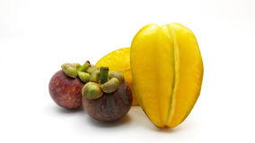 Carambola y mangostán Foto de archivo libre de regalías