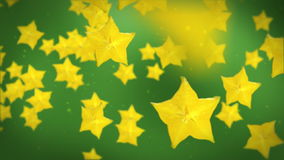 Carambola yellow star fruit, stock footage stock video footage