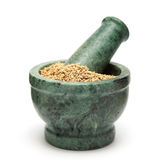 Carambolage organique (ammi de Trachyspermum) Photographie stock