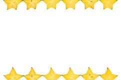 Carambolier - fruit d'étoile d'isolement sur le fond blanc Image libre de droits